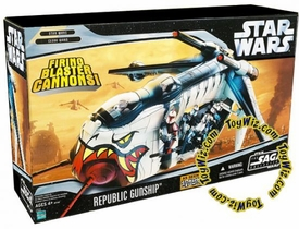 Star Wars Saga 2006 Exclusive Vehicle Cartoon Network Clone Wars Republic Gunship