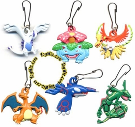 Pokemon Set of 8 Metal Keychain Mini Dangler Figures [Groudon, Blastoise, Lugia, Ho-Oh, Venusaur, Kyogre, Charizard & Rayquaza]
