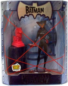 The Batman 2005 San Diego Comic Con Exclusive Action Figure Catwoman Pink Fuzzy Statue Variant