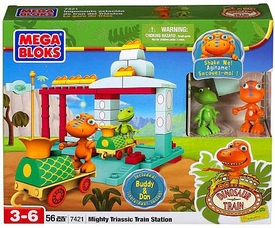 Dinosaur Train Mega Bloks Set #7421 Mighty Triassic Train Station
