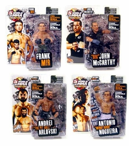 Round 5 World of MMA Champions UFC Series 3 Set of 4 Action Figures [Mir, Arlovski, Nogueira & Big John]