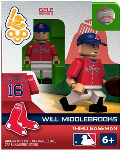 OYO Baseball MLB Generation 2 Building Brick Minifigure Will Middlebrooks [Boston Red Sox]