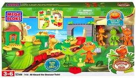 Dinosaur Train Mega Bloks Set #7406 All Aboard The Dinosaur Train!