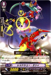 Cardfight Vanguard JAPANESE Descent of the King of Knights Single Card Common BT01-076 Redshoe, Milly