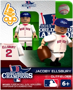 OYO Baseball MLB Generation 2 Building Brick Minifigure 2013 World Series Champions Jacoby Ellsbbury [Boston Red Sox]