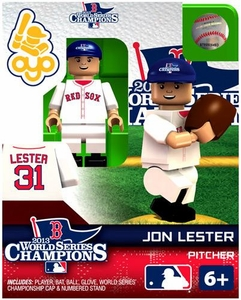 OYO Baseball MLB Generation 2 Building Brick Minifigure 2013 World Series Champions Jon Lester [Boston Red Sox]