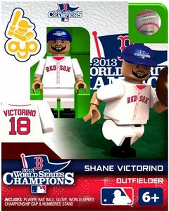 OYO Baseball MLB Generation 2 Building Brick Minifigure 2013 World Series Champions Shane Victorino [Boston Red Sox]