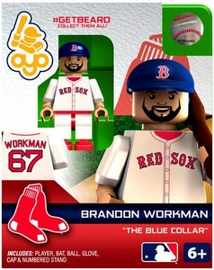 OYO Baseball MLB Generation 2 Building Brick Minifigure #GETBEARD Brandon Workman [Boston Red Sox]