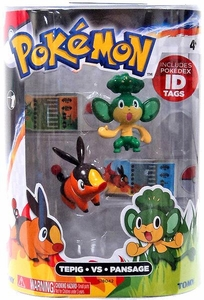 Pokemon TOMY Basic Figure 2-Pack Tepig & Pansage