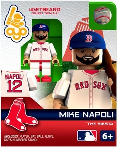 OYO Baseball MLB Generation 2 Building Brick Minifigure #GETBEARD Mike Napoli [Boston Red Sox]