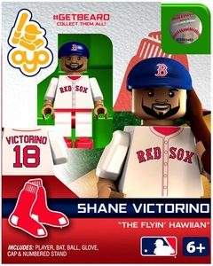 OYO Baseball MLB Generation 2 Building Brick Minifigure #GETBEARD Shane Victorino [Boston Red Sox]