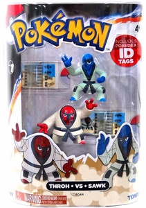 Pokemon TOMY Basic Figure 2-Pack Throh & Sawk