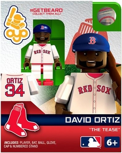 OYO Baseball MLB Generation 2 Building Brick Minifigure #GETBEARD David Ortiz [Boston Red Sox]