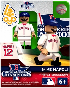 OYO Baseball MLB Generation 2 Building Brick Minifigure 2013 World Series Champions Mike Napoli [Boston Red Sox]