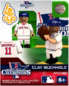 OYO Baseball MLB Generation 2 Building Brick Minifigure 2013 World Series Champions Clay Buchholtz [Boston Red Sox]