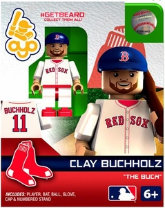 OYO Baseball MLB Generation 2 Building Brick Minifigure #GETBEARD Clay Buchholz [Boston Red Sox] [
