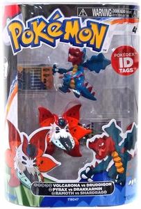 Pokemon TOMY Basic Figure 2-Pack Volcarona & Druddigon