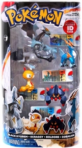 Pokemon TOMY Basic Figure 4-Pack Black Kyurem, Scraggy, Boldore & Cobalion