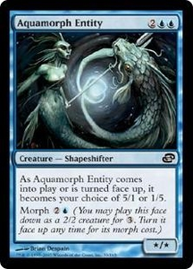 Magic the Gathering Planar Chaos Single Card Common #33 Aquamorph Entity