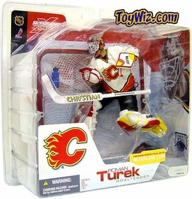 McFarlane Toys NHL Sports Picks Series 3 Action Figure Roman Turek (Calgary Flames) White Jersey