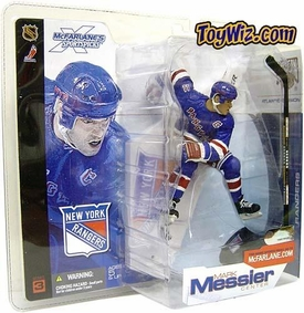 McFarlane Toys NHL Sports Picks Series 3 Action Figure Mark Messier (New York Rangers) Blue Rangers Jersey