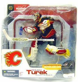 McFarlane Toys NHL Sports Picks Series 3 Action Figure Roman Turek (Calgary Flames) Black Jersey Variant