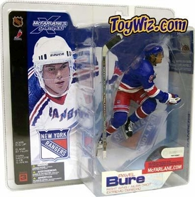 McFarlane Toys NHL Sports Picks Series 3 Action Figure Pavel Bure (New York Rangers) Blue Jersey Variant