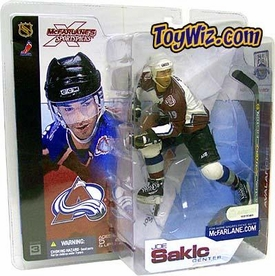 McFarlane Toys NHL Sports Picks Series 3 Action Figure Joe Sakic (Colorado Avalanche) White Jersey with Burgundy Sleeves Variant