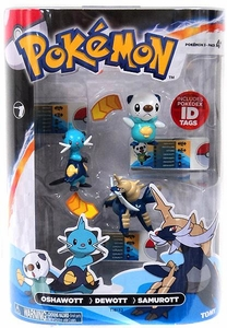 Pokemon TOMY Basic Figure Evolution 3-Pack Oshawott, Dewott & Samurott
