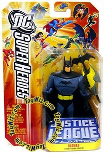 DC Super Heroes Justice League Unlimited Action Figure Batman with Batarang Orange Card!