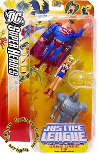 Justice League Unlimited Exclusive Action Figure 3-Pack Superman, Supergirl & Steel