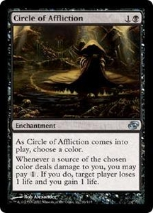Magic the Gathering Planar Chaos Single Card Uncommon #66 Circle of Affliction