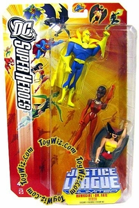 DC Super Heroes Justice League Unlimited Action Figure 3-Pack Hawkgirl, Dr. Fate & Vixen Orange Card!