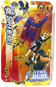 DC Super Heroes Justice League Unlimited Action Figure 3-Pack Superman, Aquaman & Dr. Light [Orange Card]