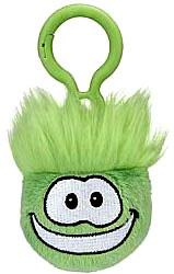 Disney Club Penguin 2 Inch Plush Puffle Clip On Green Random Facial Expression!