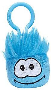 Disney Club Penguin 2 Inch Plush Puffle Clip On Blue