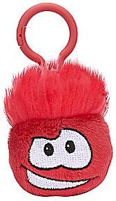 Disney Club Penguin 2 Inch Plush Puffle Clip On Red