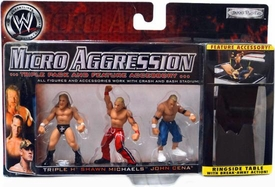 WWE Wrestling Micro Aggression Series 1 Figure 3-Pack Triple H, John Cena & Shawn Michaels