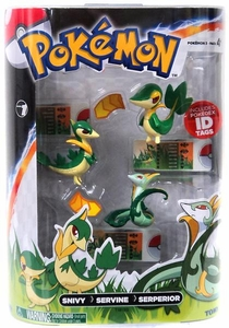 Pokemon TOMY Basic Figure Evolution 3-Pack Snivy, Servine & Serperior