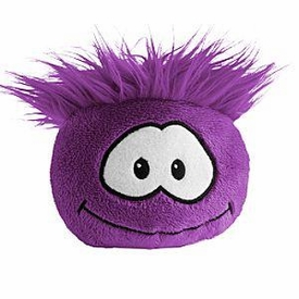 Disney Club Penguin 4 Inch Plush Puffle Purple [NO CODE!] Random Facial Expression!