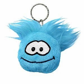 Disney Club Penguin 2 Inch Plush Puffle Keychain Blue