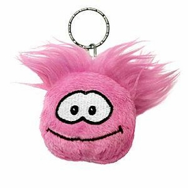 Disney Club Penguin 2 Inch Plush Puffle Keychain Pink