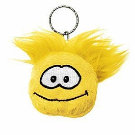 Disney Club Penguin 2 Inch Plush Puffle Keychain Yellow