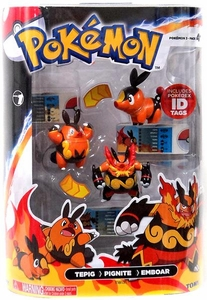Pokemon TOMY Basic Figure Evolution 3-Pack Tepig, Pignite & Emboar