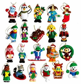 Webkinz Exclusive Holiday Ornaments Set of 21 Mini PVC Figure Ornaments