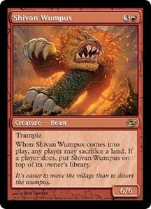 Magic the Gathering Planar Chaos Single Card Rare #121 Shivan Wumpus