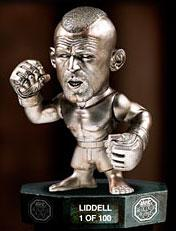 Round 5 UFC Titans Limited Edition All Silver Vinyl Hall of Fame Action Figure Chuck Liddell Only 100 Made!