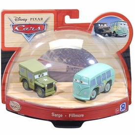 Disney / Pixar CARS Movie Exclusive Wood Collection 2-Pack Sarge & Fillmore