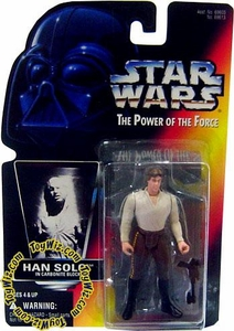 Star Wars POTF2 Power of the Force Red Card Han Solo in Carbonite Block