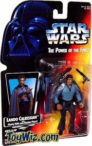 Star Wars POTF2 Power of the Force Red Card Lando Calrissian with Heavy Rifle and Blaster Pistol